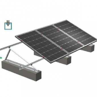 Solar roof adjustable triangle bracket