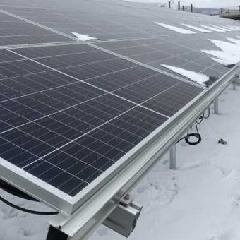 Aluminum ground solar mounting system