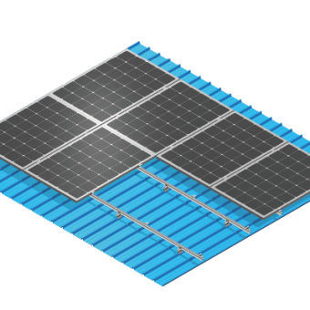 Folded Metal Roof Solar Mounting