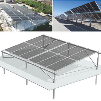 Double sided power panel solar mounting system