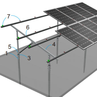 C type steel solar mounting structure