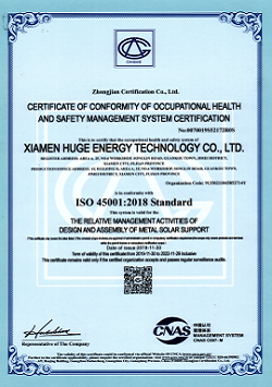 ISO45001 OHSMS CERTIFICATE OF CONFORMITY OF OCCUPATIONAL HEALTH AND SAFETY MANAGEMENT SYSTEM CERTIFICATION